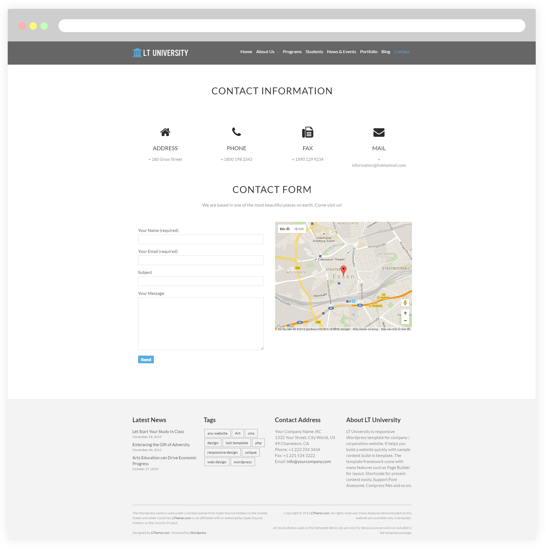 Contact Email: Free Responsive College / University
