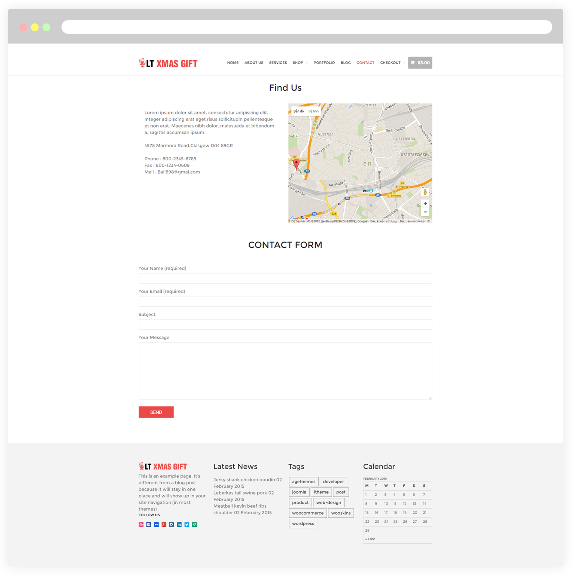 LT XMas Gift  Free Responsive XMas Store  Christmas Shop - Free us map mail