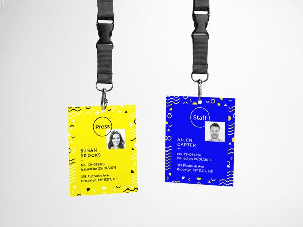 Realistic ID Card Free PSD MockUp