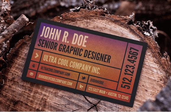 Wood Scene – Free Business Card Mockup Template