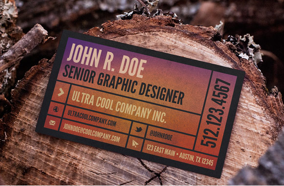 Wood Scene – Free Business Card Mockup Template