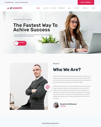 LT Avante – Free responsive business wordpress themes