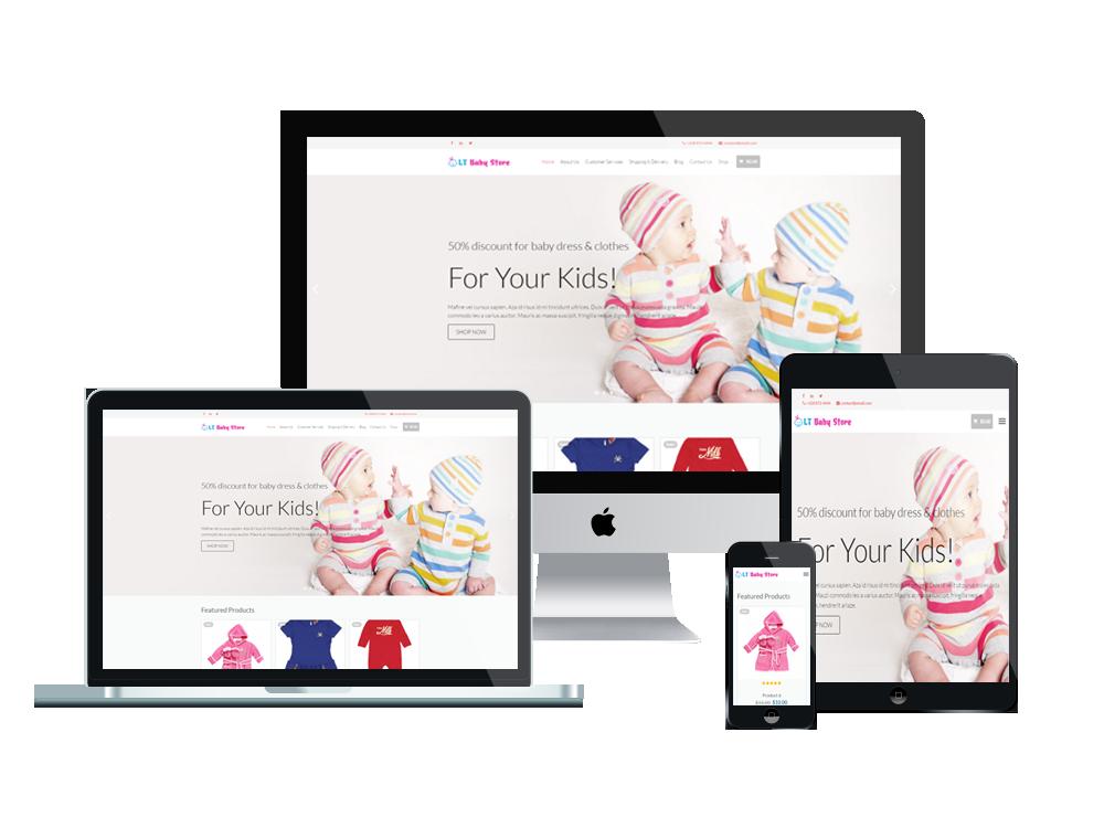 f5ba97f8b LT Baby Shop – Free Responsive Kids / Baby Store WordPress theme - LTHEME