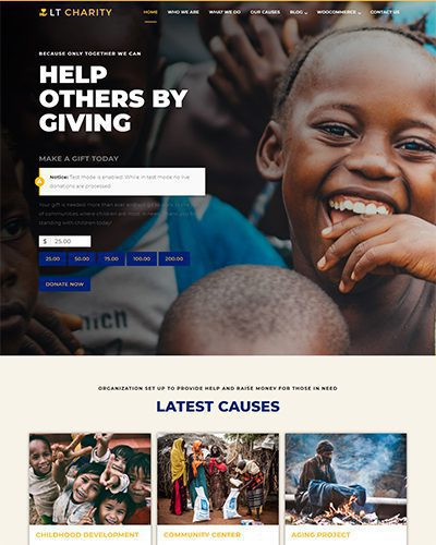 LT Charity – Free Responsive Non-Profit / Charity WordPress theme