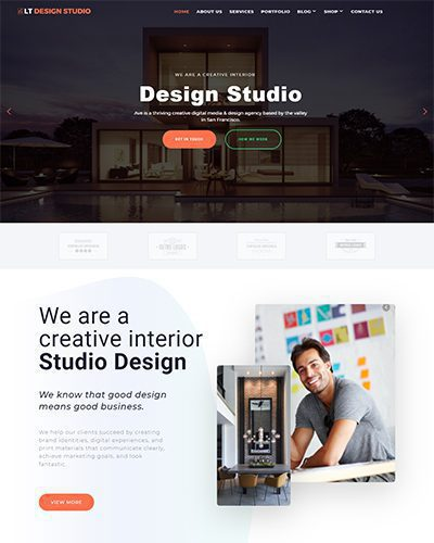 LT Design Studio – Free responsive portfolio wordpress theme