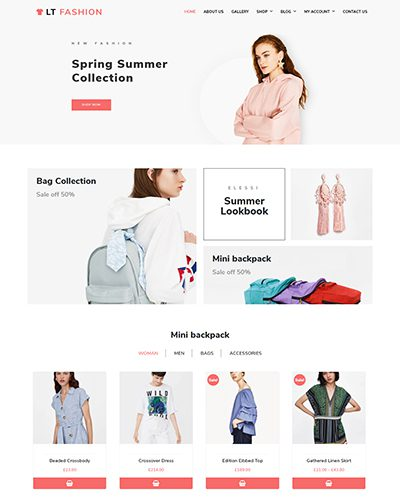 LT Fashion – Free Responsive Fashion WordPress Themes