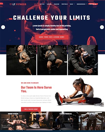 LT Fitness – Free responsive sport wordpress theme