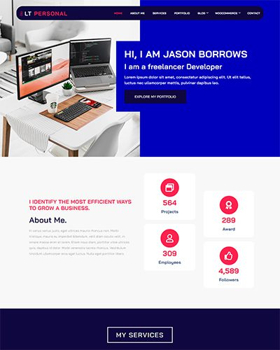 LT Personal Onepage – Free Responsive Profile / Personal Onepage WordPress theme