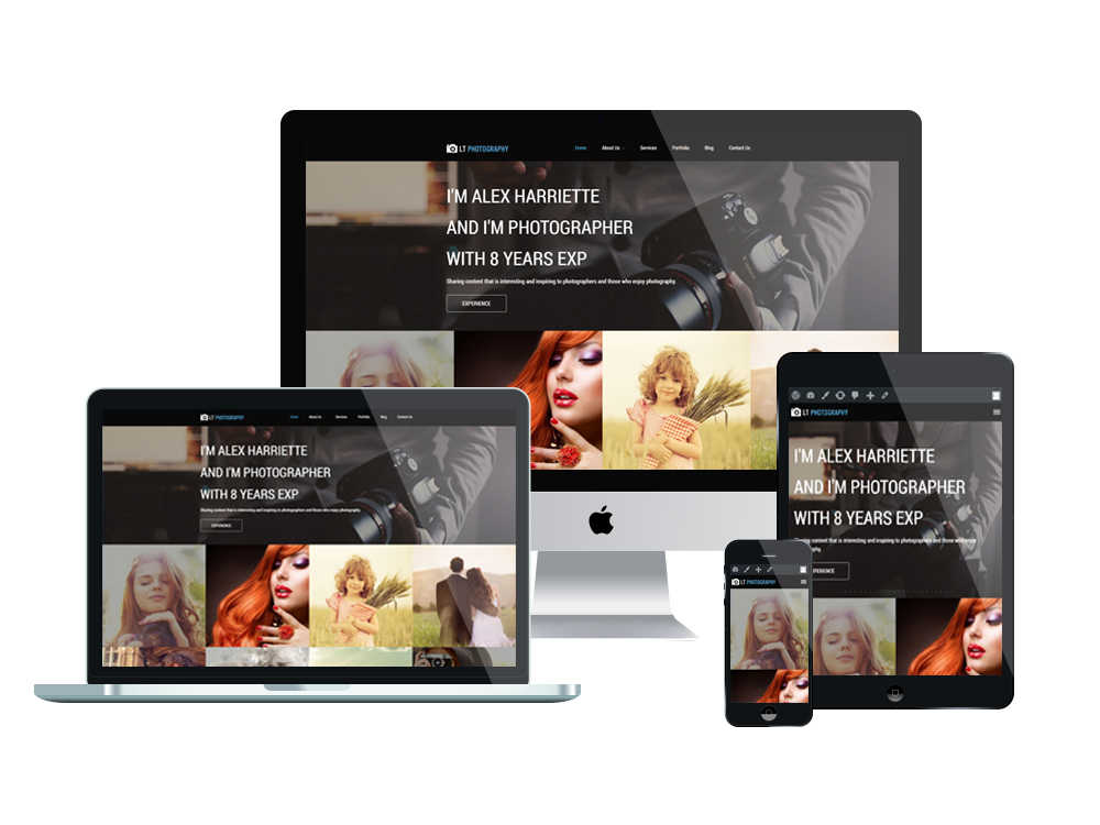 LT Photography Onepage – Free Responsive Image Gallery / Photography ...
