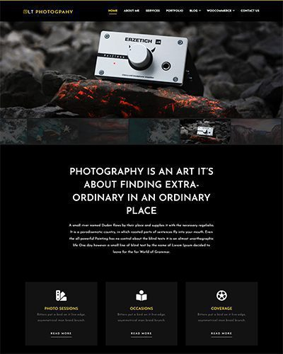 LT Photography – Free Responsive Image Gallery / WordPress Photo Gallery Theme