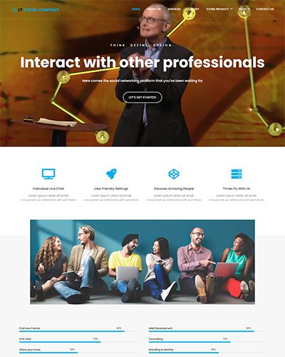 LT Social Company – Free Responsive business wordpress themes