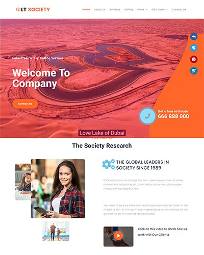 LT Society – Free responsive business wordpress themes