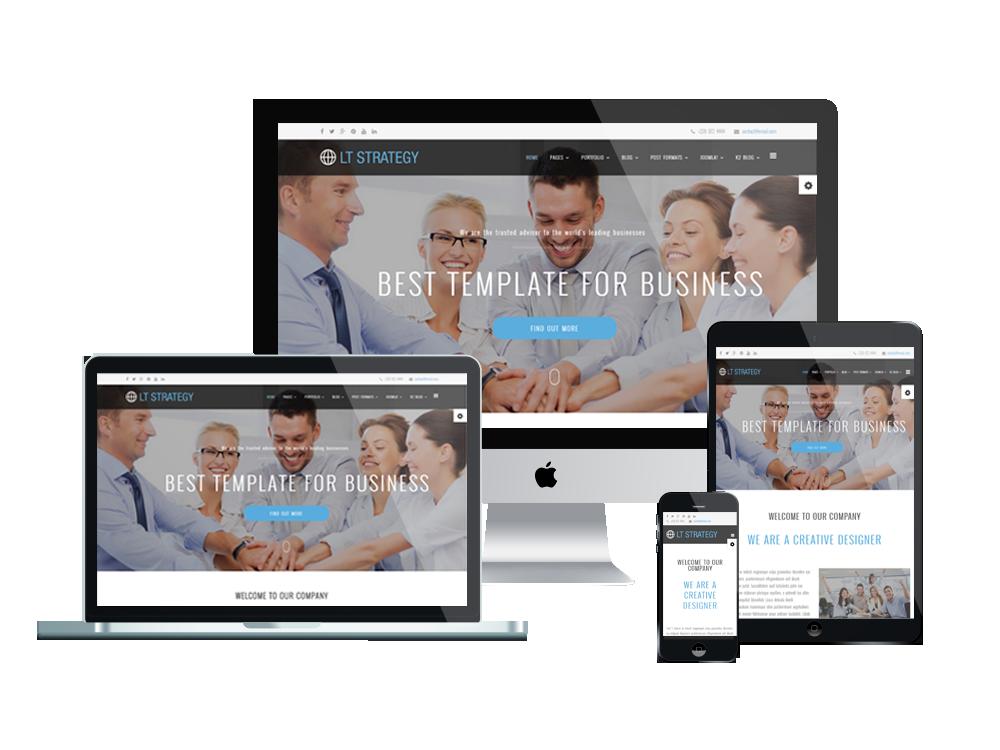 LT Strategy – Free Responsive Business / Creative WordPress theme ...