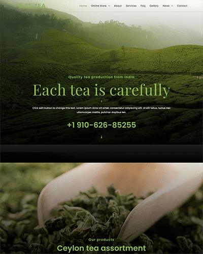 LT Tea – Free responsive restaurant wordpress themes