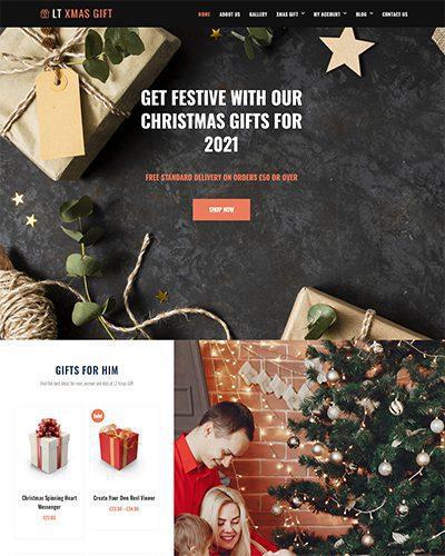 LT xMas Gift – Free responsive wordpress christmas theme