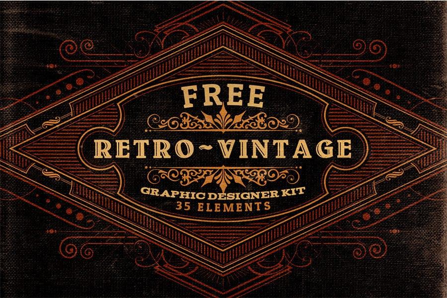 Freebie: Free Retro Vintage Logo