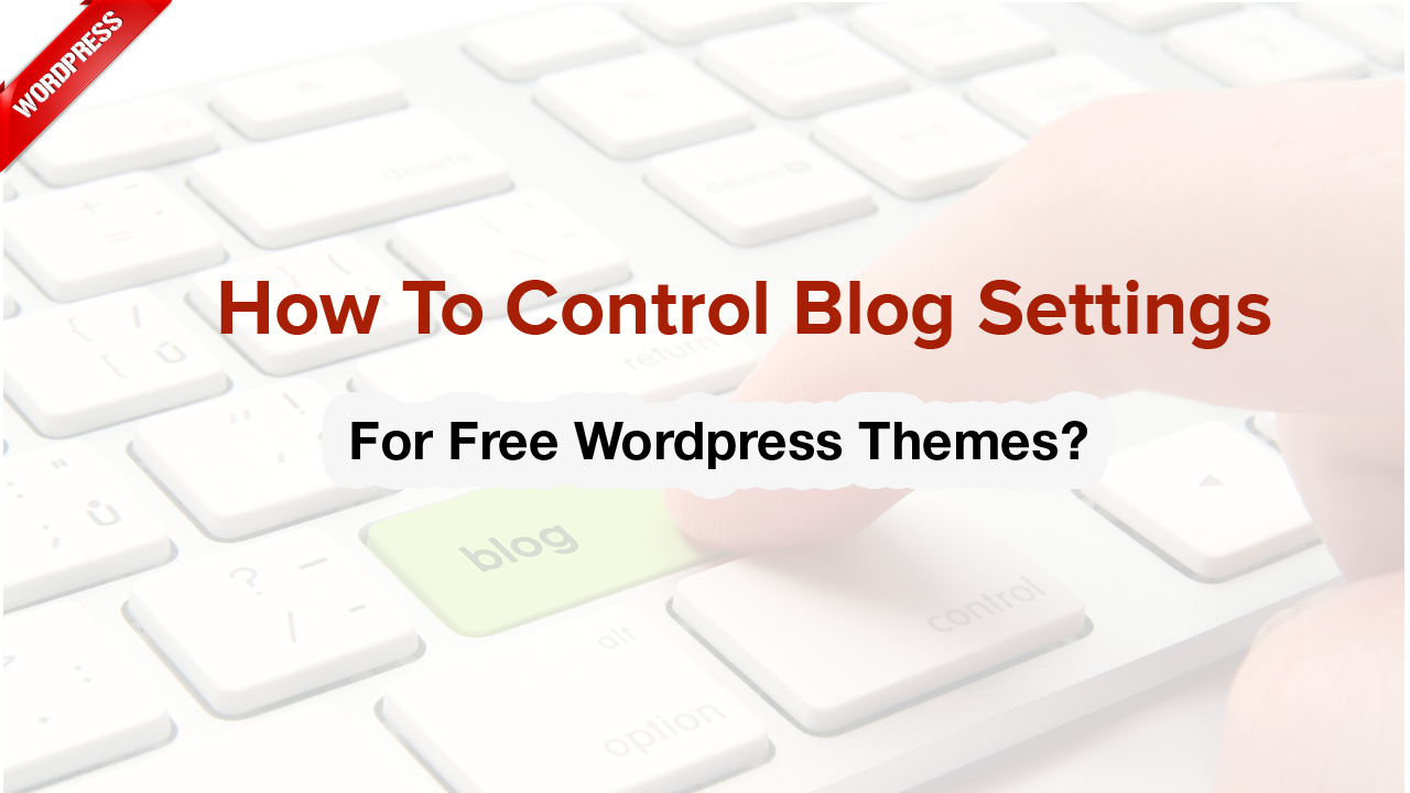 How to control blog settings for Free WordPress themes?