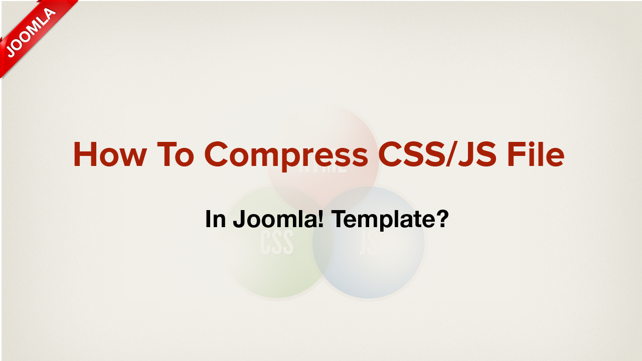 How to enable compress CSS/JS file for Joomla! templates?