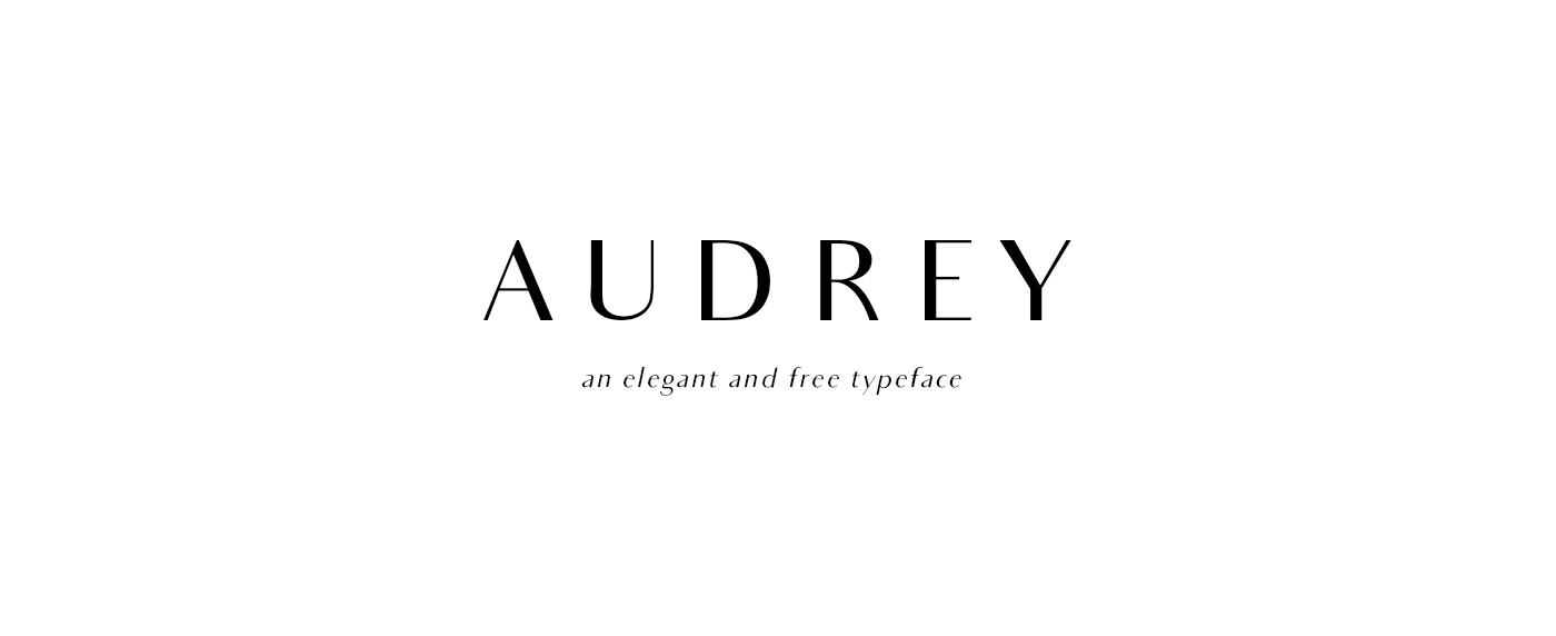 Audrey Elegant Free Font For Designers Responsive