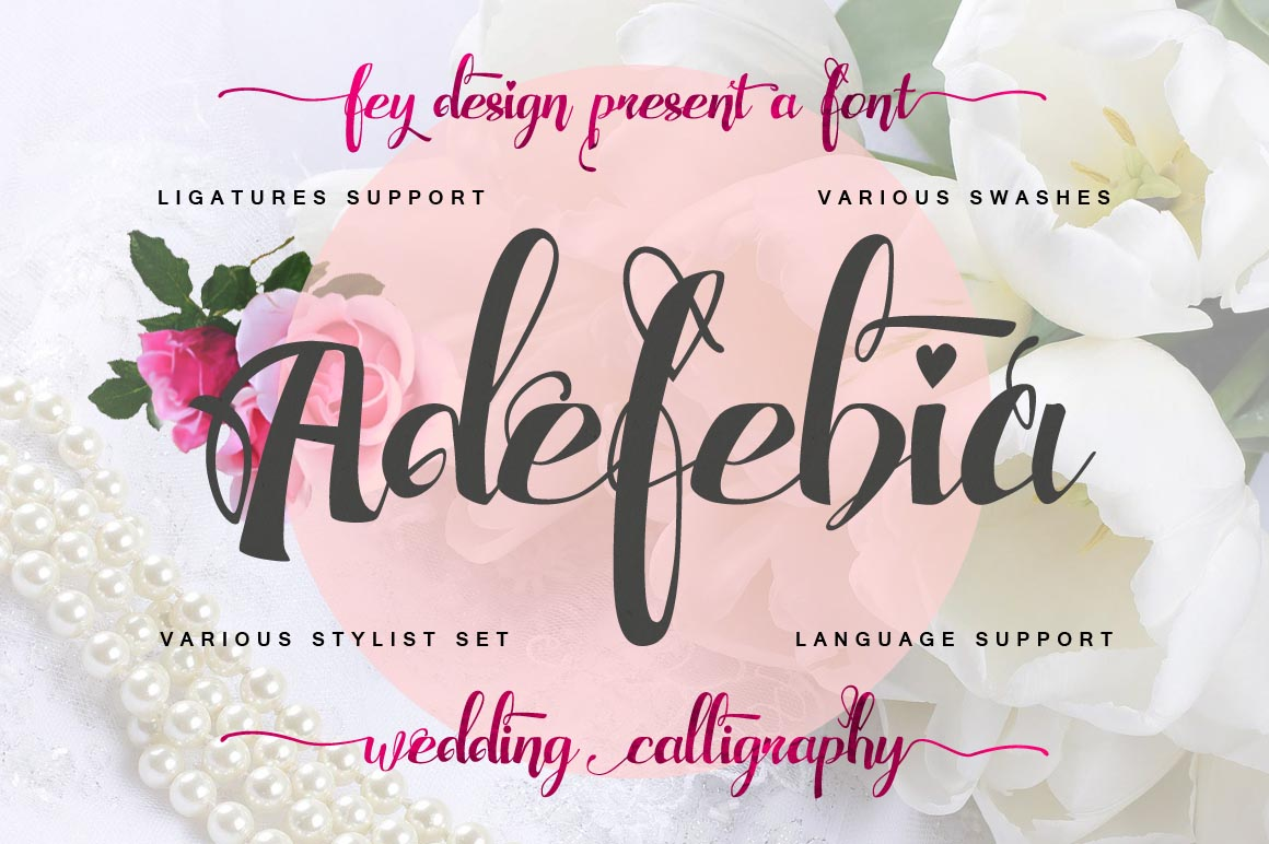 adefebia wedding handwriting font free download