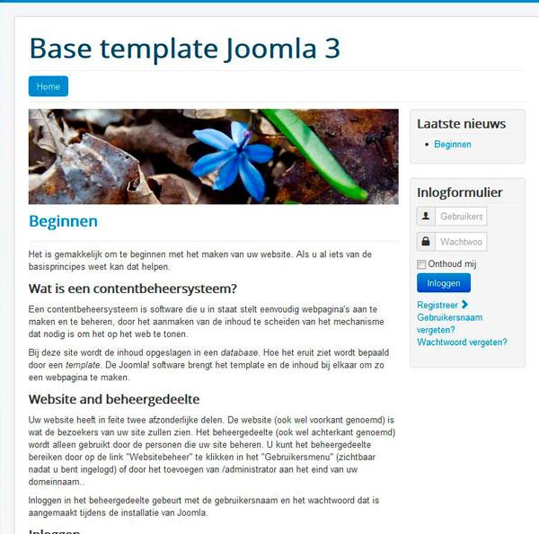 Protostar base template - joomla 3.5