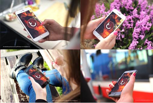 Set Of iPhone 6S Free MockUps