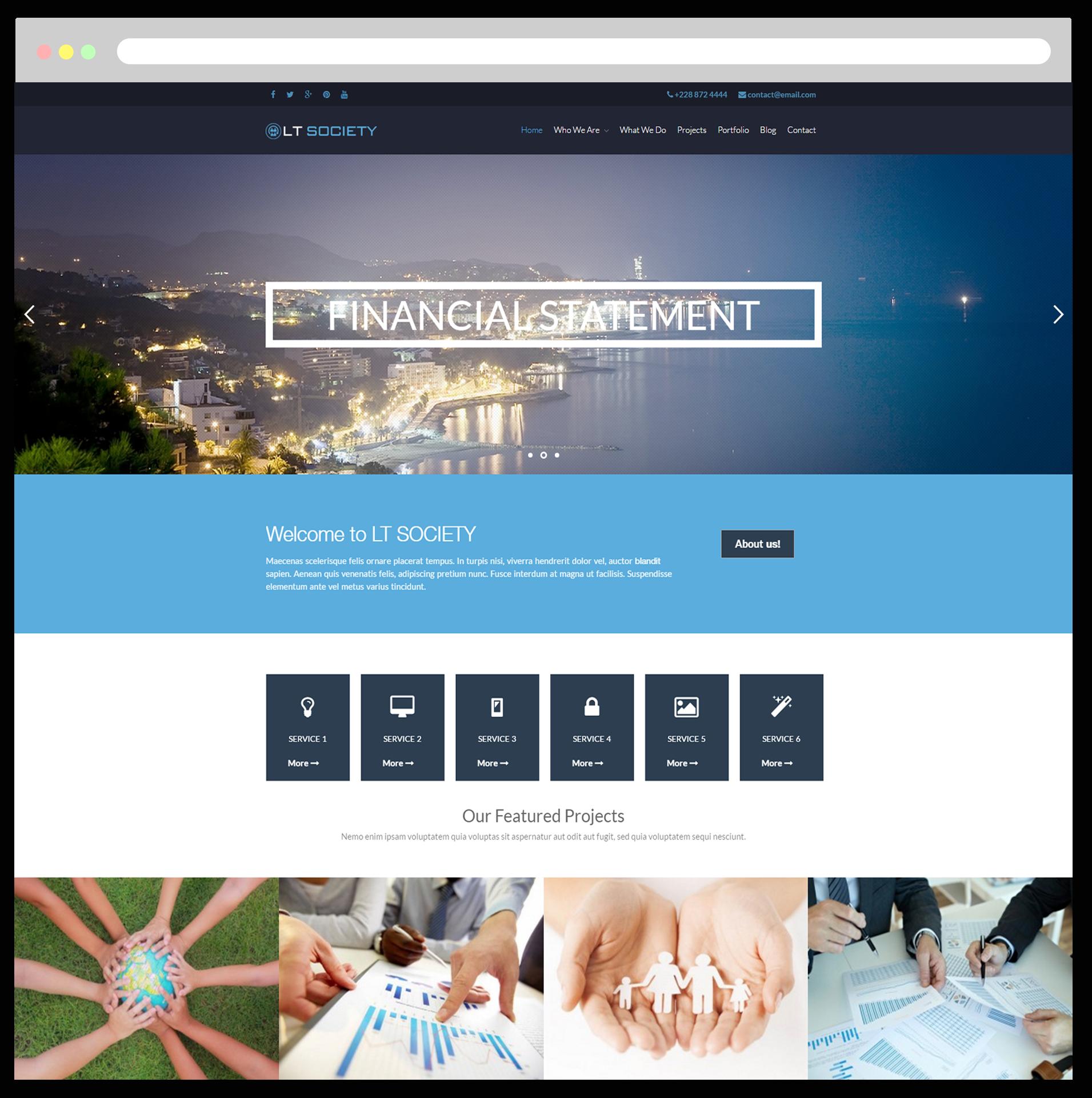 LT Society – Free Responsive Corporation / Society Wordpress theme - LTHEME