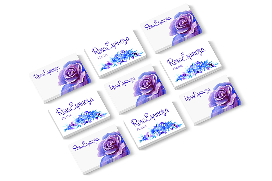 Blue Roses Floral Watercolor Set 2