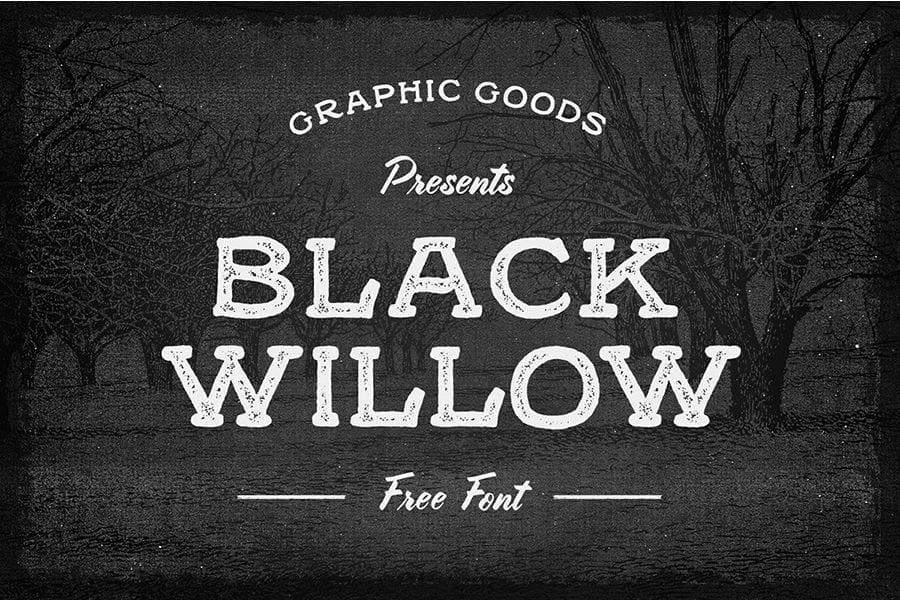 Black Willow Free Font Creator