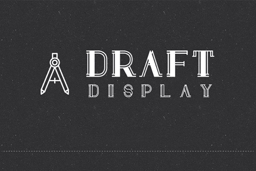Draft Display – Creative Free Font To Download