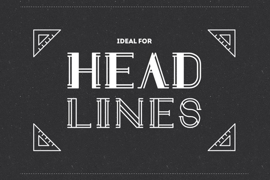 draft-display free font