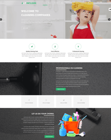 LT Inclean Onepage – Free Responsive Cleaning Company / Maid Service & Laundry Onepage WordPress theme