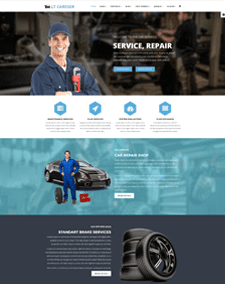 LT Careser Single Page – Free Responsive One page Repair WordPress theme