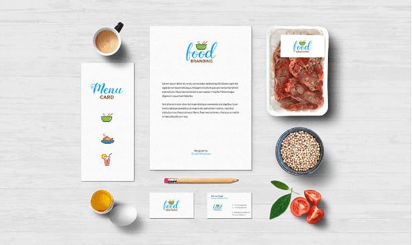 free food branding mockup psd template responsive joomla and