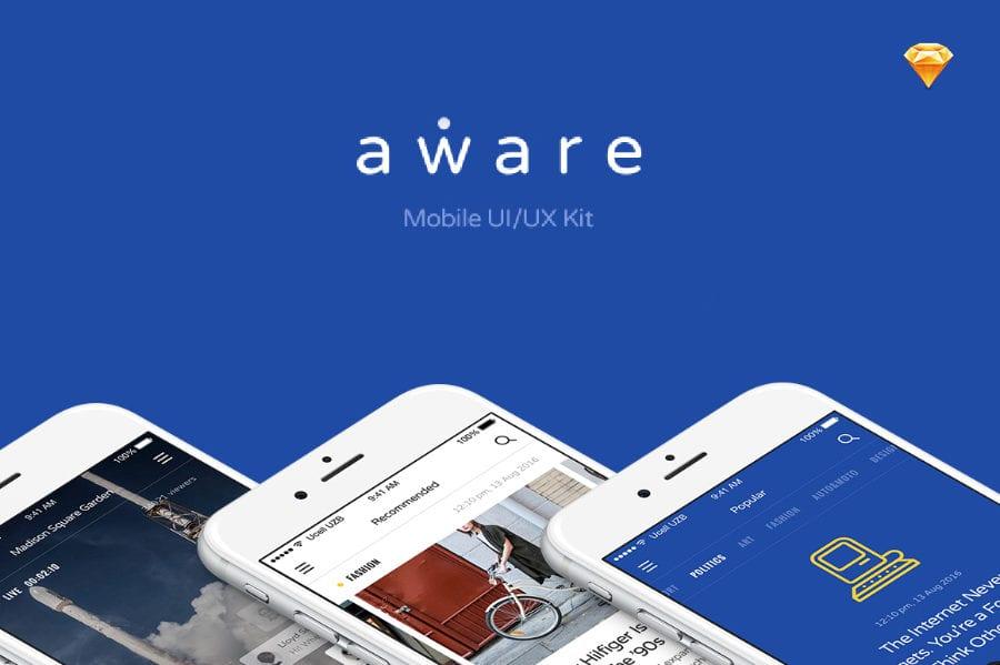 Aware Free Mobile UI Kit