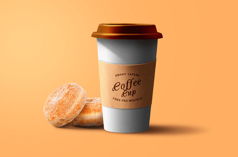 Paper Coffee Cup PSD Free Download