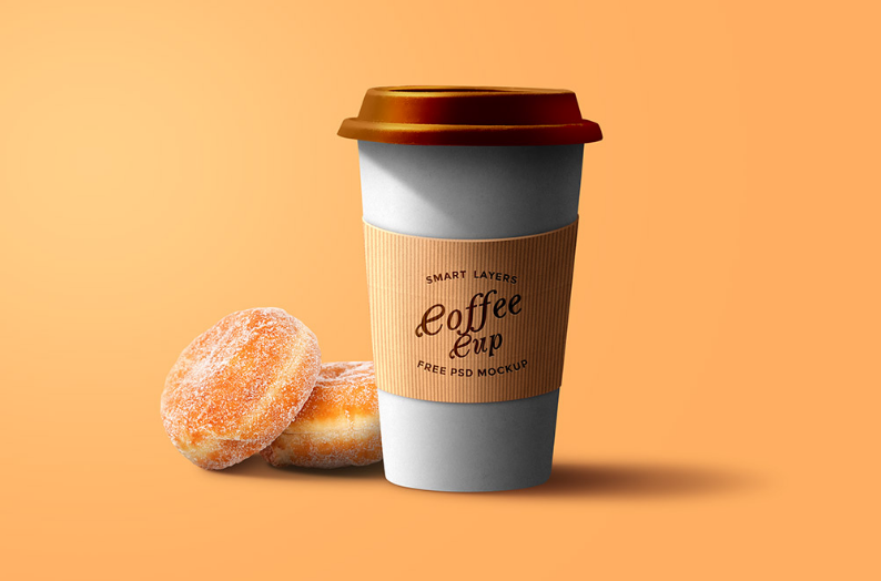 Paper Coffee Cup PSD Free Download - Responsive Joomla and Wordpress themes