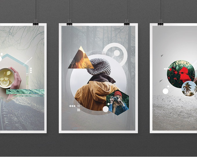 7 Free Geometric Photo Art Templates