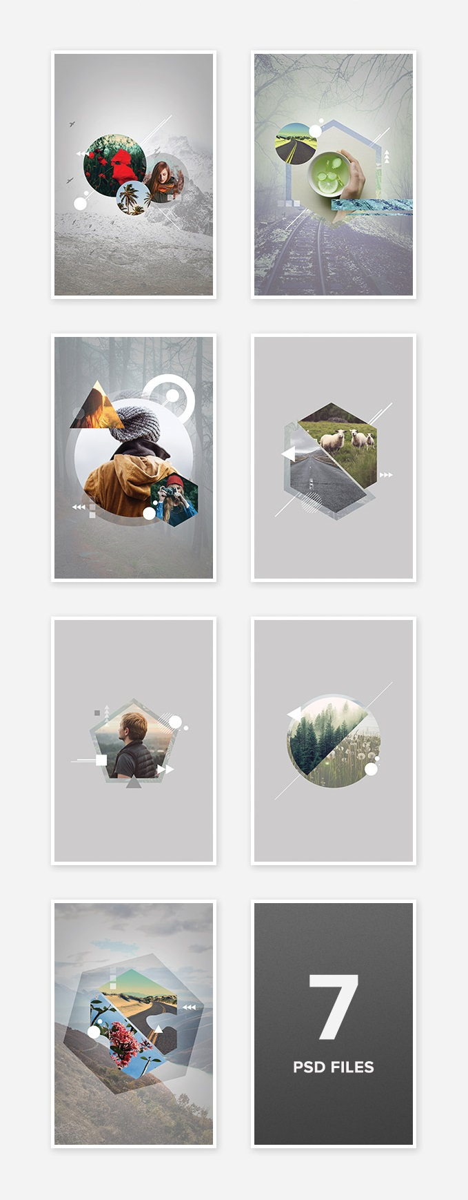 Free Geometric Photo Art Templates