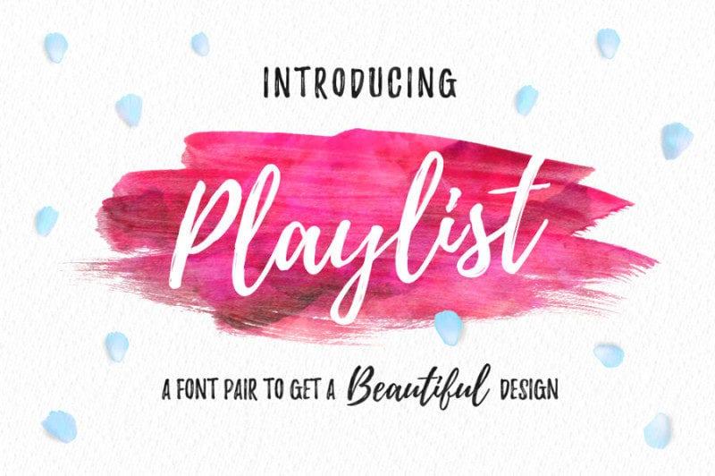 Playlist- Modern Font Free For Designers