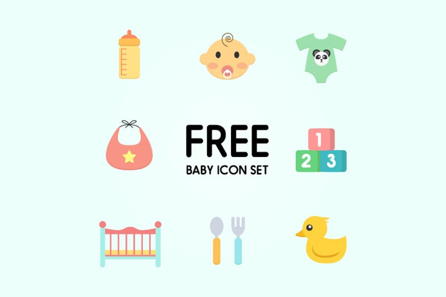 Set Of Free Baby Icons