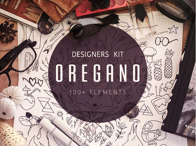 Oregano Free Vector illustrations Set
