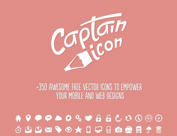 Modern 350 Icons Set: Captain