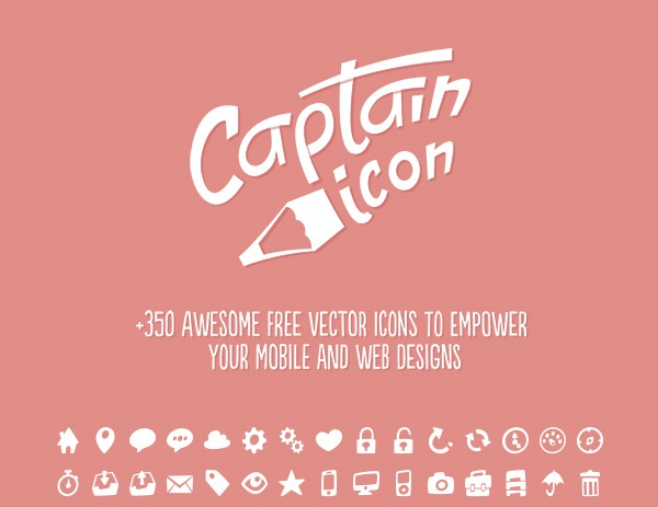 Modern 350 Icons Set: Captain