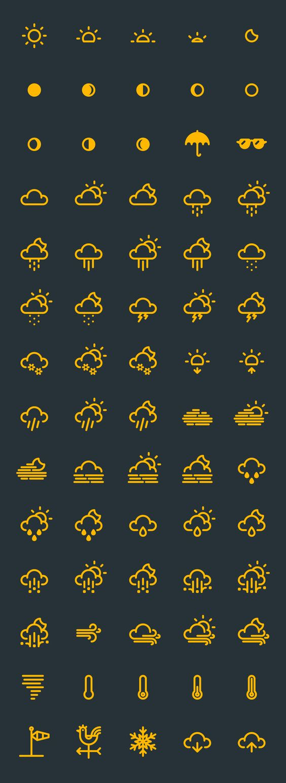cool weather icons Free download