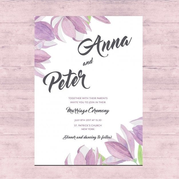 Vector Free Download Floral Wedding Card Ltheme