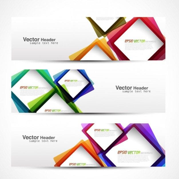 Colorful Squares – Web Banner Designs Free