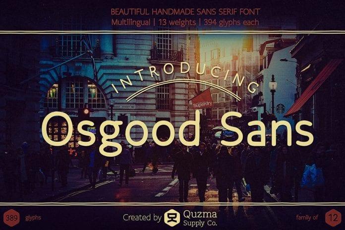 Retro Font Free Download: Osgood Sans