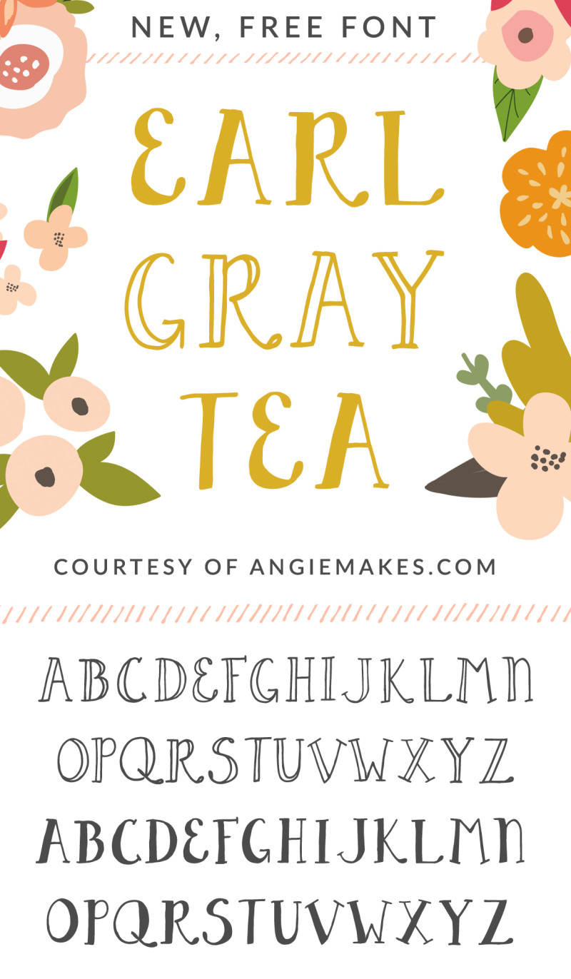 fonts font tea earl gray angie grey cute girly makes angiemakes clipart alphabet calligraphy typography lettering sweet whimsical different graphics