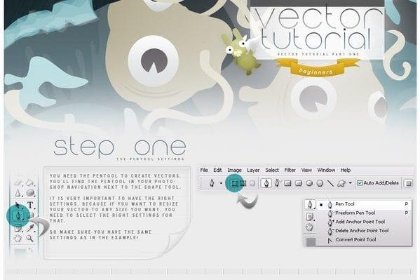 Vector Tutorials In Photoshop: Part 1
